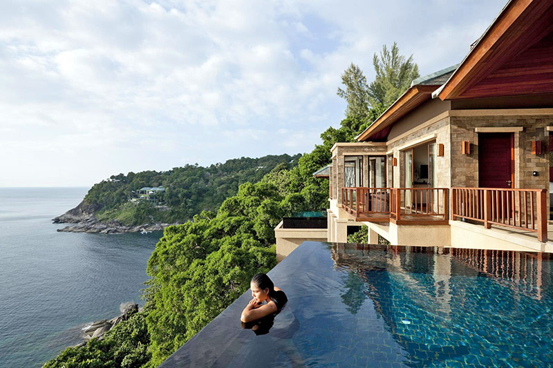 Detox holiday at luxury swimming pool in Phuket, Thailand