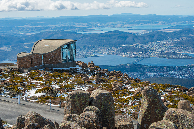 Top of Mt.Wellington in Hobart city, Tasmania island, Australia.