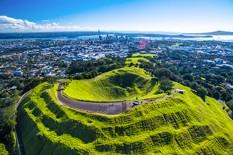aerial view of Mt Eden, near Auckland, New Zealand