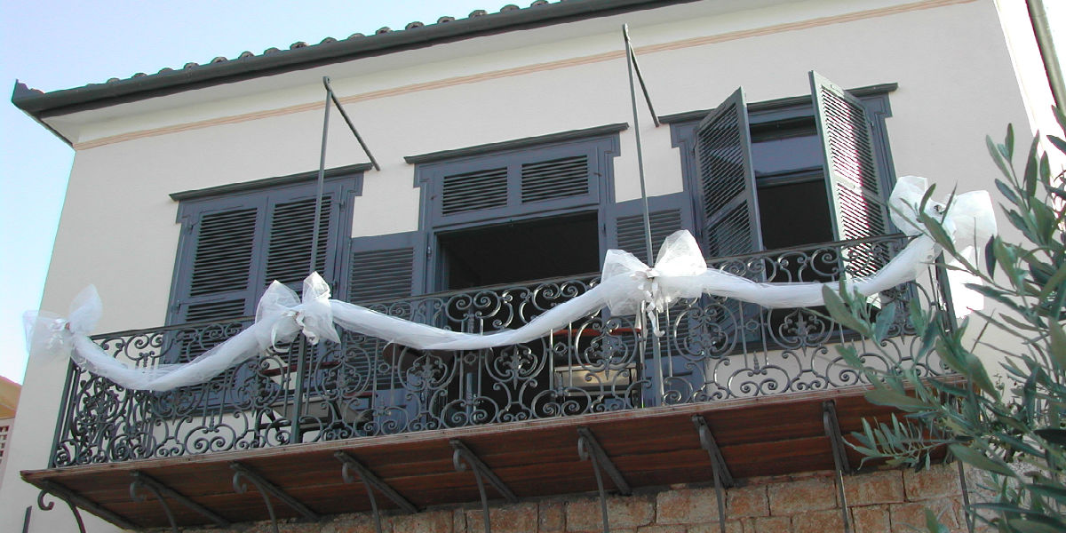 Hydra island Greece Phaedra hotel balcony