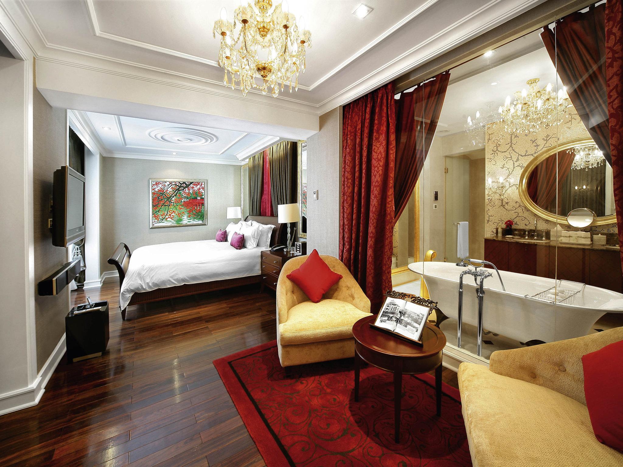 Luxury room view of hotel Sofitel Legend Metropole, Hanoi Vietnam