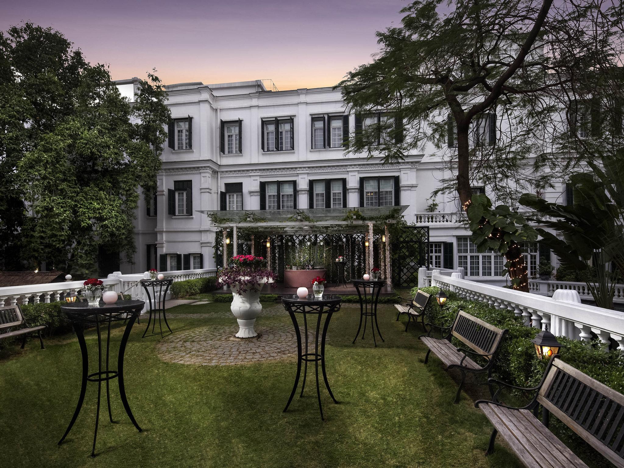 Front yard of hotel Sofitel Legend Metropole, Hanoi Vietnam