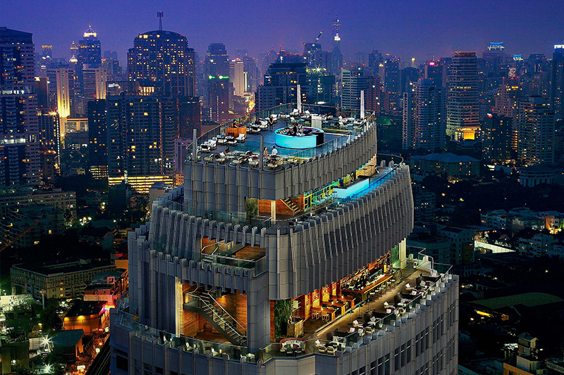 Octave Rooftop Lounge & Bar at Bangkok Marriott Hotel Sukhumvit - Best hotel bars in Bangkok