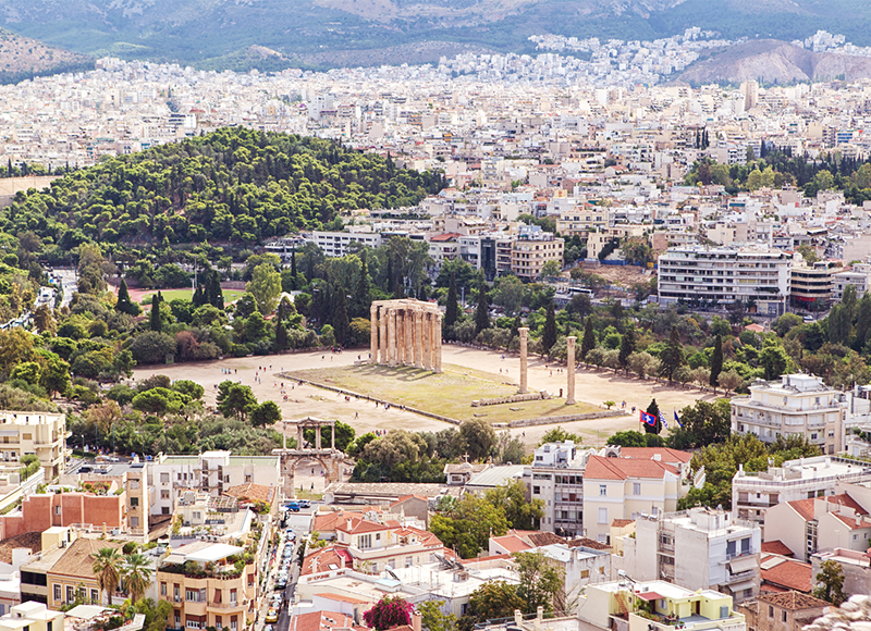 Temple of Olympian Zeus in central Athens