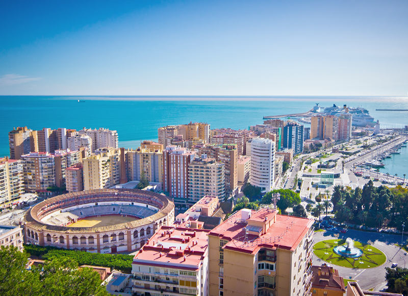 Sea view in the eastern district of Malaga