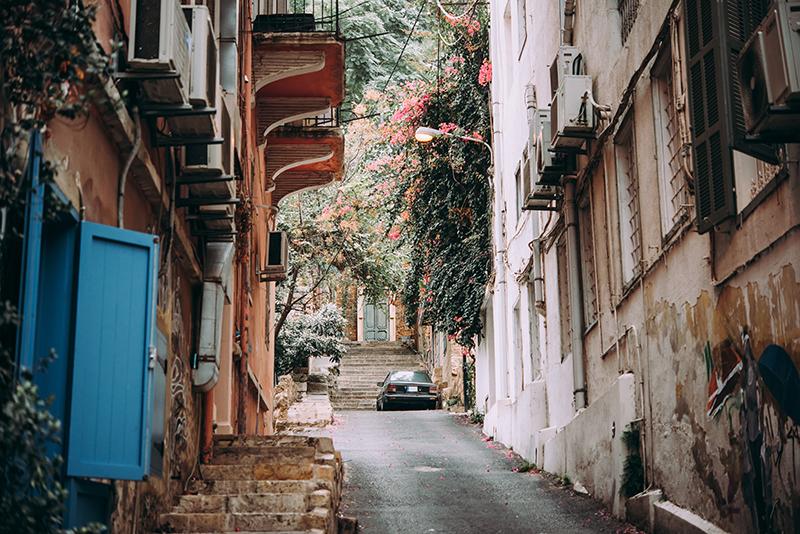 Beirut, Lebanon quiet street