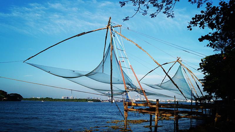 fishing lines in Kochi, India
