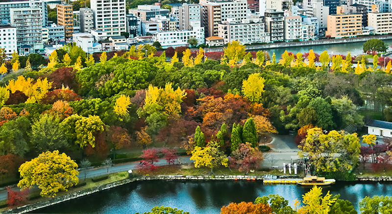 Osaka, Japan aerial view