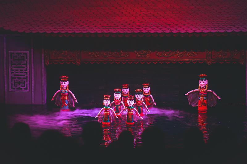 Traditional Vietnamese water puppet theatre show in Hanoi, Vietnam