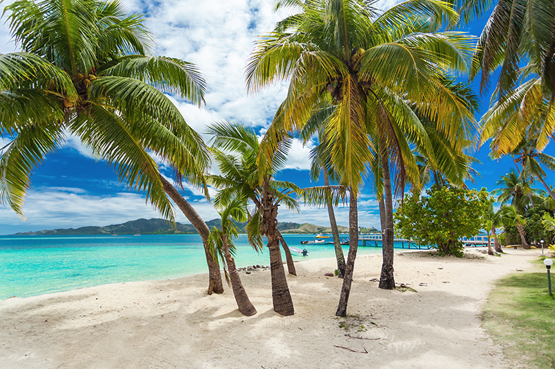 Tropical beach in Fiji