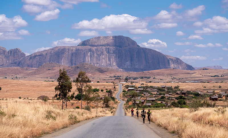 The bishop's hat mountain in Madagascar