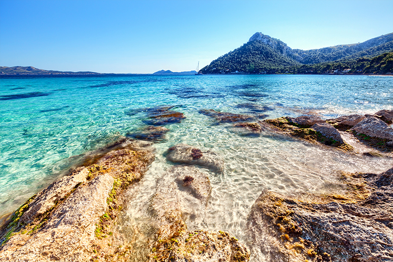 Romantic view of beach in Mallorca as seen in Me Before You