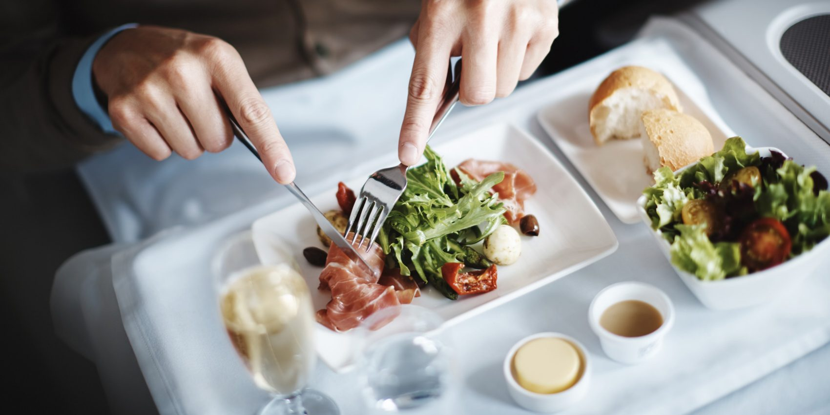 Airline food on Cathay Pacific