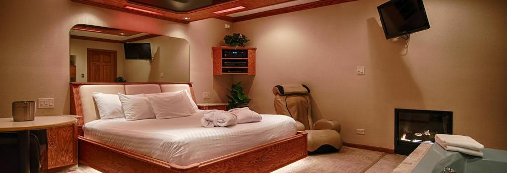 Sybaris Pool Suites Northbrook - Adults Only - Northbrook - Bedroom
