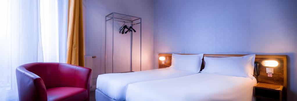 Hotel Moulin Vert - Paris - Bedroom