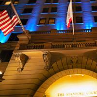 Stanford Court San Francisco Hotel Front - Evening/Night